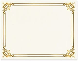 Empire Gold Certificate on White Parchment - Set of 25, 8-1/2