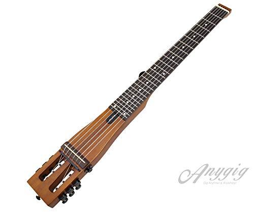 Anygig AGNSE Nylonsaite Full Scale Länge 25,5 Zoll Traveler Guitar Backpacker Matte Brown
