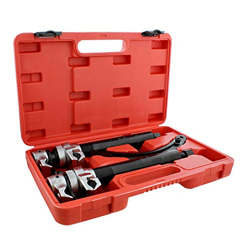 ABN Coil Spring Compression Tools - 2pc Durable Coil Spring Clamps Strut Spring Compressor Tool Set with Safety Guard