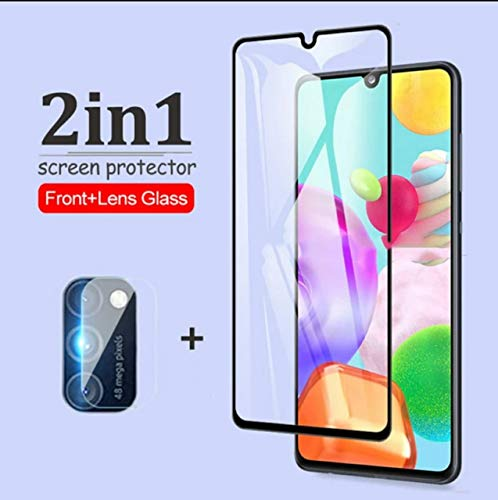 Zarala For samsung galaxy m21 Tempered Glass Full Glue Screen Protector Camera Protective Film For samsung m21
