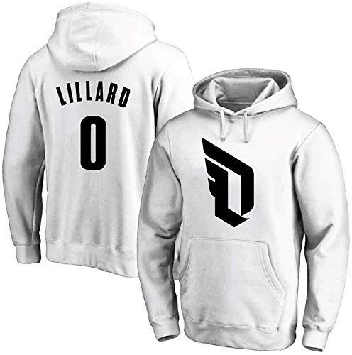 Shelfin NBA Jerseys NBA Heren Basketbal Hoodie Portland Trail Blazers No.0 Lillard Jerseys Hooded Pullover Losse Basketbal Sweatshirt