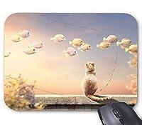 魚猫マウスパッド