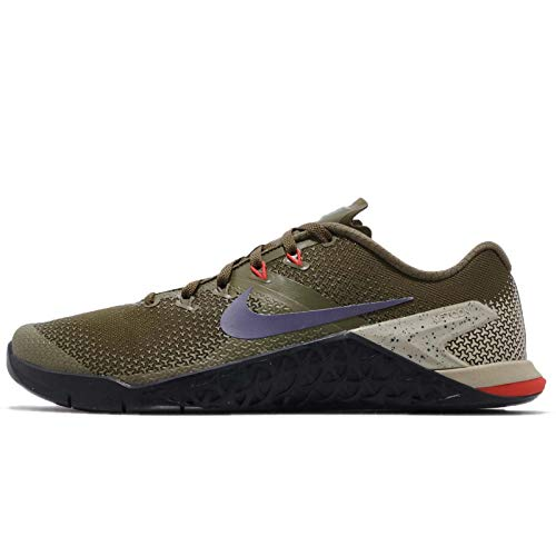 Nike Men's Metcon 4 Training Shoe Olive Canvas/Indigo Burst/Black Size 10.5 D US