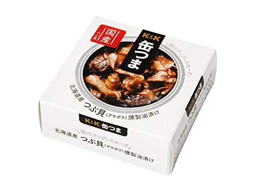 K&K 缶つま 北海道産 つぶ貝燻製油漬け 35g×6