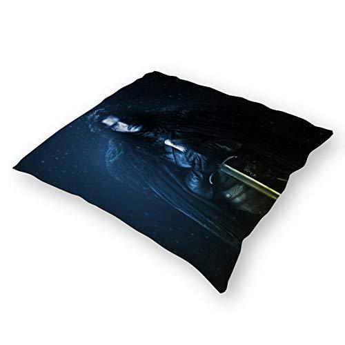 Throw Pillow - Federa per cuscino in peluche, super morbida, per sostenere il cuscino del Trono di Spade, 45,7 x 45,7 cm