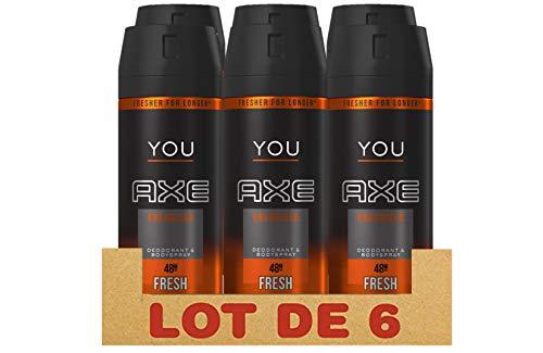 AXE YOU Déodorant Homme Energised, Anti-Humidité et Anti-Odeur, Protection 48h (Lot de 6 x 150ml)