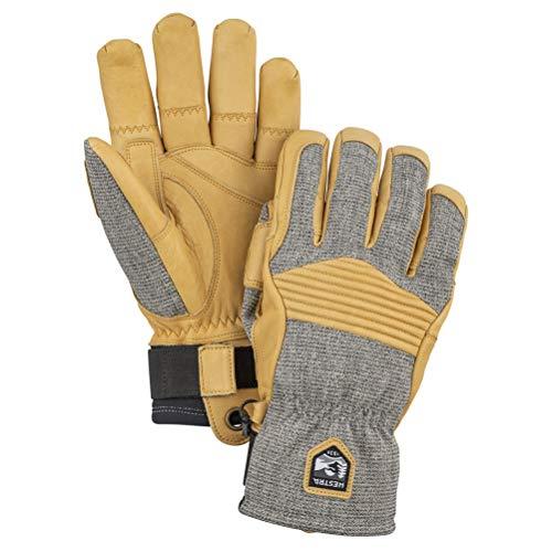 HESTRA Army Leather Couloir Handschuhe, gra/svart, EU 7
