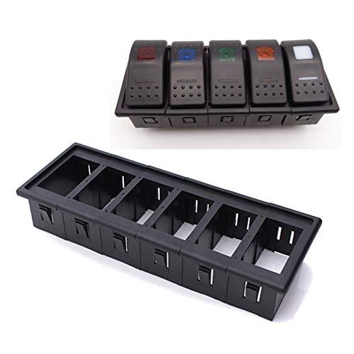 JSJJAUA Interruptor basculante 6X Barco Auto del Coche Interruptor oscilante Clip Panel de Patrulla Titular de Vivienda ARB 6X6 Impermeable