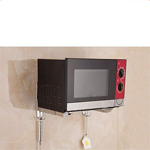 ZzheHou Mikrowelle Regalständer 304 Edelstahl Mikrowelle Regal Wand hängend Küche Rack Bequem und Haltbar (Color : B, Size : One Size)