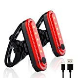 tydv Waterproof Bike Light Set,2pc Upgrade Bicycle Lights,Mountain/Speed Front Back Headlight Lamp,Cycling Light USB Charging Bike Lights Led Taillight(4 Modes,1 Lifting Buckle)