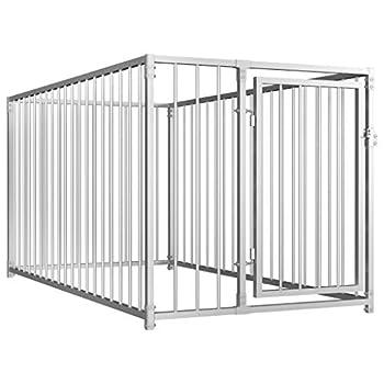 Festnight Chenil d'extérieur pour Chiens Cages à Chien Polyvalente 100 x 200 cm
