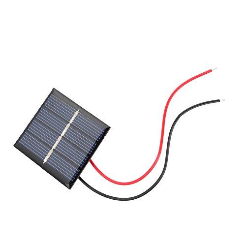 Jadpes Solar Battery Kit, 2Pcs 0,36W 2V Mini Polykristalline Solar Panels DIY Ladegerät Modul + Clip Kit