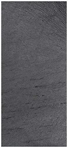 posterdepot ktt0742 deurbehang deurposter zwarte leistenen tafel optiek - stenen tafel grootte 93 x 205 cm