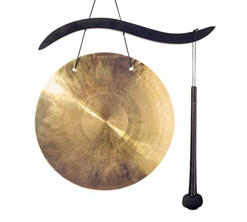 Woodstock Chimes WCBHG The Original Guaranteed Musically Tuned Chime Hanging Gong, Quintet, Black/Bronze