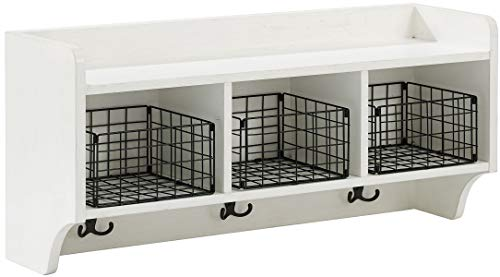 Crosley Furniture  Fremont Entryway Shelf, Distressed White