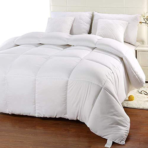 Utopia Bedding Edredón de Fibra 200x200 cm, Fibra Hueca siliconada, 1400 gramo - (Blanco, Cama 105-200 x 200 cm)