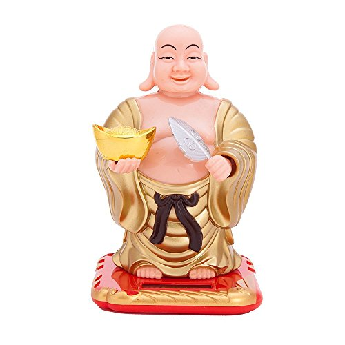 THY COLLECTIBLES Solar Powered Bobblehead Toy Figure Nohohon, Buddha 074
