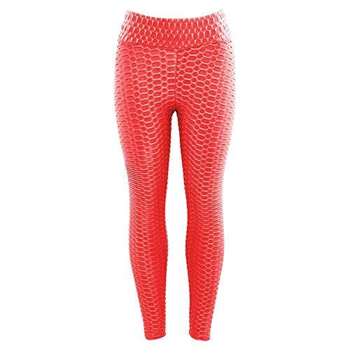 B/H Pantalones de Yoga Leggings, Leggins Anti Celulitis Legging Fitness,Entrenamiento Sexy de Cintura Alta Jeggings-Hot_Pink_L,Pantalones Super Suaves de Yoga Pilates