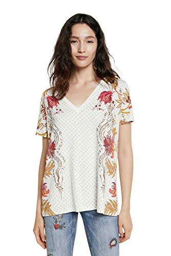 Desigual TS_Praga Camiseta, Blanco, XXL para Mujer