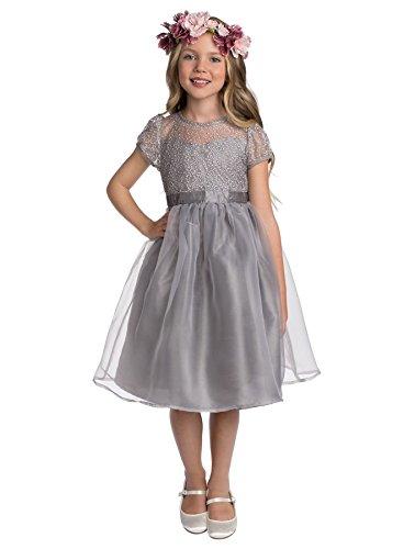 Vestidos de niña, vestidos con flores, para dama de honor, de 18 meses a 7 años, de Paisley of London Gris gris 2-3 Años