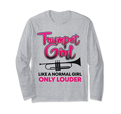 Trumpet Girl Cute Trumpet Player Gift Marching Band Long Sleeve T-Shirt