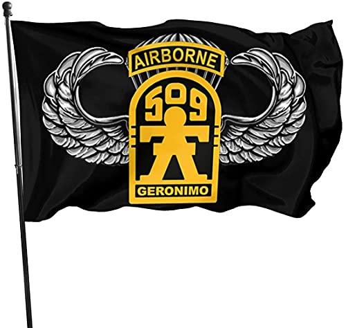 'N/A' SBLB 509th Geronimo Airborne W Master Wings Banner Brisa Bandera al aire libre Banderas de casa Bandera de jardín Bandera de 3' x 5' pies