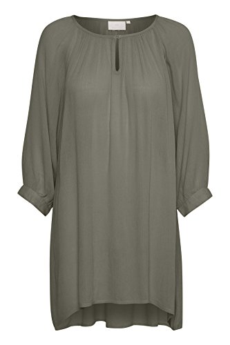 KAFFE Damen Amber Tunic Bluse, Grau (Smoked Pearl 50022), 40