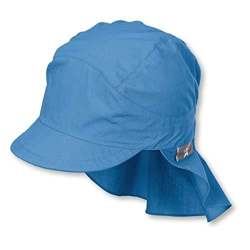 Sterntaler Kinder Schirmmütze mit Nackenschutz, blau 399, Gr. 57