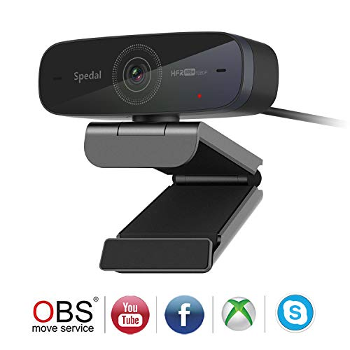 Webcam 60fps 1080P HD PC Web Camera Streaming OBS Gaming Webcam Auto Focus USB Webcam with Microphones Desktop or Laptop Web Camera for Skype Facebook Compatible for Mac Windows