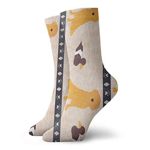 Primitive Retriever And Duck Decoy - Calcetines divertidos para mujer (algodón, 30 cm)