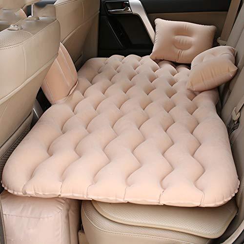 Sedile Posteriore Materasso Gonfiabile Letto Auto Materasso Letto Gonfiabile Viaggio Campeggio Materasso da Campeggio Portatile Materasso Auto Universale SUV Camion di Bambino Riposo Pad Color Crema