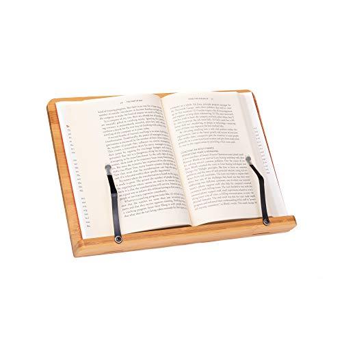 Xoppal Soporte de Libros de Madera Porta Libros Para Ipad Kindle Tableta