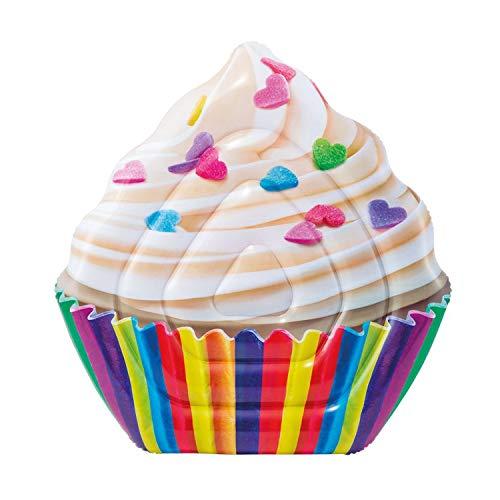 Colchoneta hinchable con forma de cupcake de 142 x 135 cm, multicolor