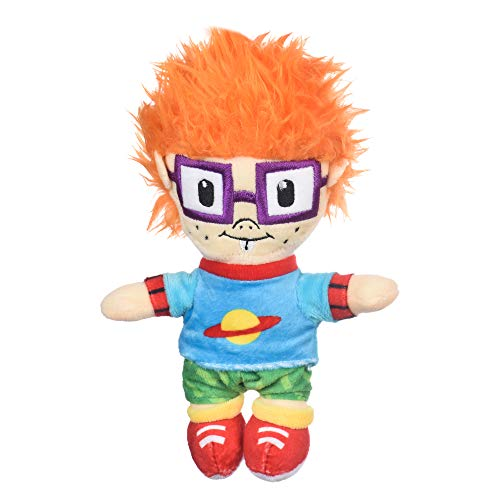 Nickelodeon Rugrats Chuckie Finster Figure Plush Dog Toy | 6 Inch Baby Nickelodeon Toys - Rugrats Toys for Dogs from Nickelodeon 90s Rugrats TV Show | Nickelodeon Small Plush Toys for Dogs