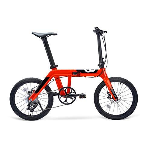 ZHIFENGLIU Bicicleta Portátil De Aleación De Aluminio Ultraligera De 20 Pulgadas, Plegable...