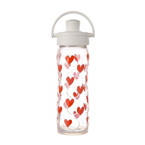 Lifefactory True Love glazen fles met Active Flip deksel, meerkleurig, 475 ml