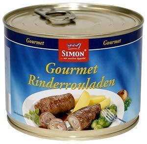"""""""Simon"""" - Gourmet-Rinderrouladen in feiner Sauce 500gr-Ringpull-Dose"""