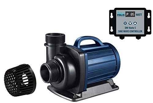AquaForte Filter-/Teichpumpe DM-22.000 Vario S, 70-200W, Förderhöhe 7,5m, regelbar mit externem Controller. Ideal als Teichpumpe oder als Bachlauf- /Wasserfallpumpe