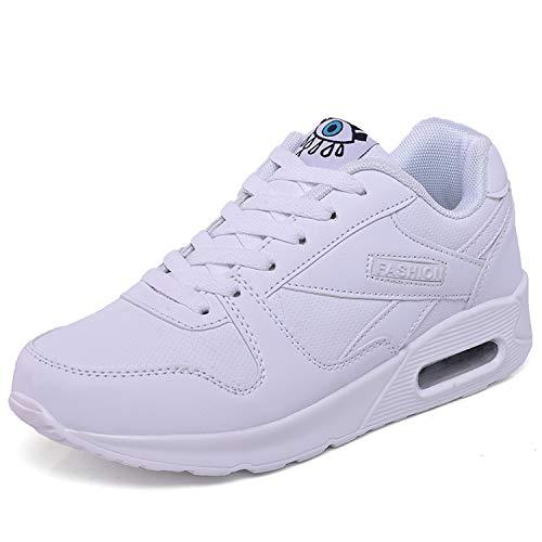 [Vocnako] スニーカー ウォーキングシューズ ランニングシューズ スポーツシューズ カジュアル レディース 靴 ジム用 運動靴 アウトドア レディース安全靴 エアクッション付き 通勤 通学 女性 用 白 22.5cm