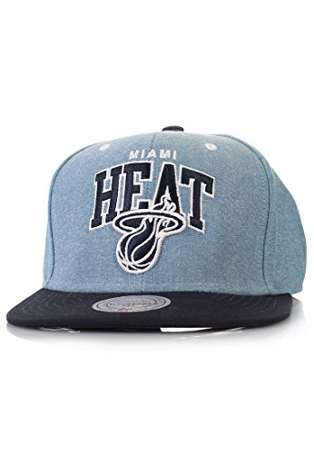 Mitchell And Ness - Casquette Snapback Homme Miami Heat Chambray Arch - Blue
