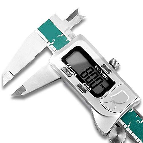 Avanzata Vernier Caliper Diametro di precisione di misurazione Vernier scheda Strumento digitale impermeabile compasso meccanico di misura Righello interno ed esterno Resistente all'acqua Measurement