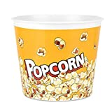 Large 146 oz, Modern Style Reusable Plastic Popcorn Containers/Popcorn Bowls Set for Movie Theater Night - (BPA Free-1 Pack- 146 oz) (Color: Yellow Popcorn Boxes) (Yellow, 1)
