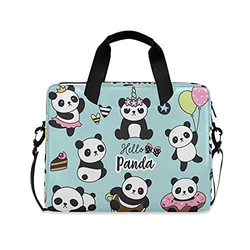 LUCKYEAH Animal Panda Unicorn Donut Bolsa de ordenador portátil de 16 pulgadas Maletín de hombro Bussiness Carry Bolsa Bolsa Bolsa Bolsa Bolsa Bolsa Bolsa Bolsa Bolsa Bolsa para Mujeres Hombres