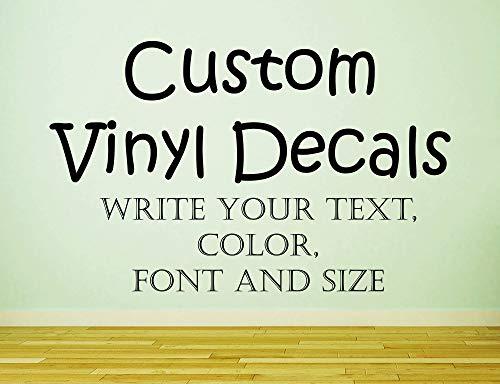 Aangepaste muur Decal U Eigen Vinyl Sticker Persoonlijk Ontwerp Aangepaste Tekst Decals Aangepaste Werk Decals Creatie TT