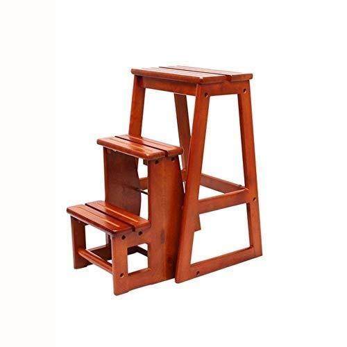 Leitern Trittleiter Klettermaterial Holz Trittschemel Leiter Beurteilung Kindersicherheit Produktständer Geräumig Struktur einfache Lagerung Zusätzliche Funktionen Every Stufenleitern (Color : A)