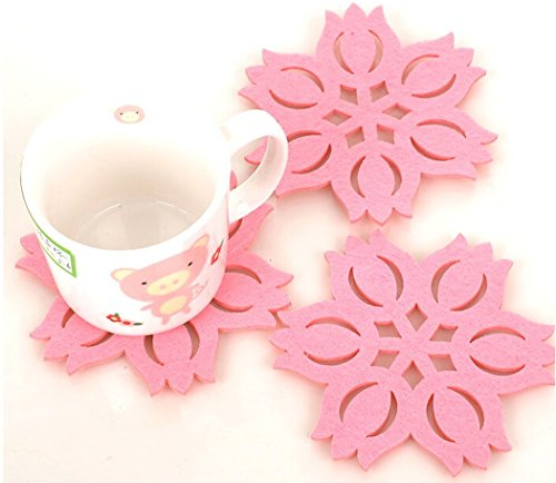 Gullor 3PCS Lotus Matelas Isolant de façon créative Tasse Coaster Bols Mat