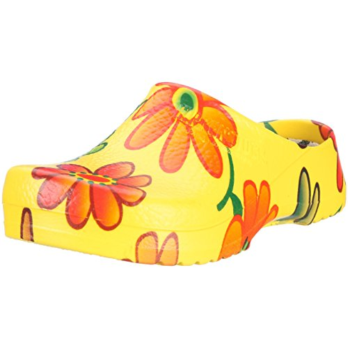 Birkenstock - Professional SUPER Damen Clogs, Mehrfarbig (YELLOW FLOWER), 35 EU