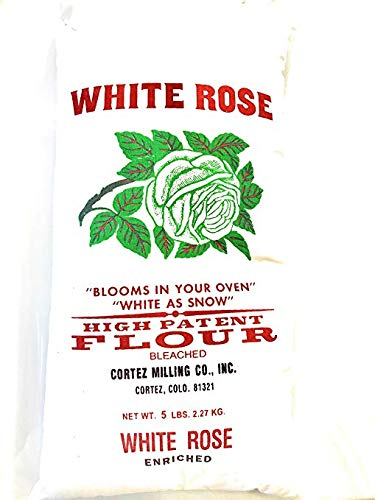 Cortez Milling White Rose High Patent Cakes and Pastries Flour 5# cloth bag