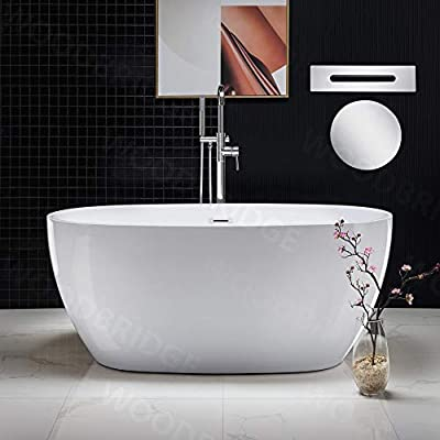 WOODBRIDGE B1418-C-Drain &O Bathtub, Chrome