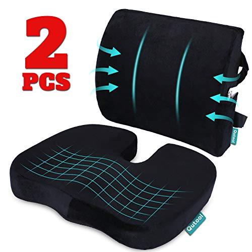 powerful Orthopedic coccyx seat cushion and lumbar support cushion for office chair Memory foam car seat …